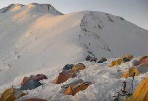 Campo base del pico lenin