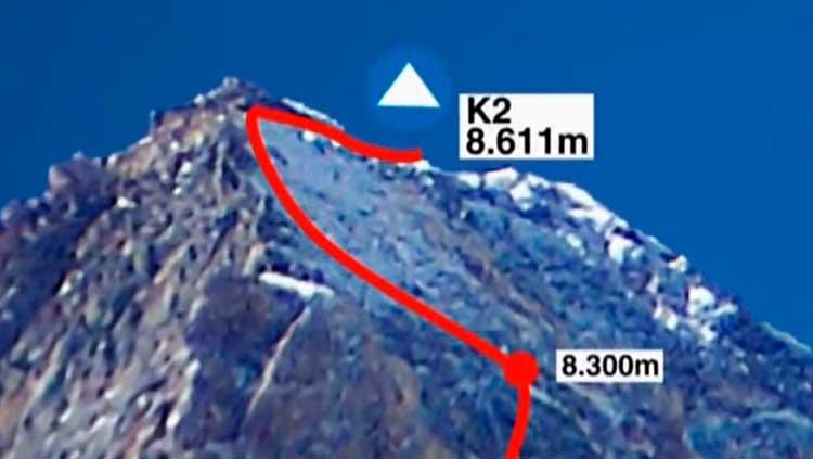 ruta de ascenso al K