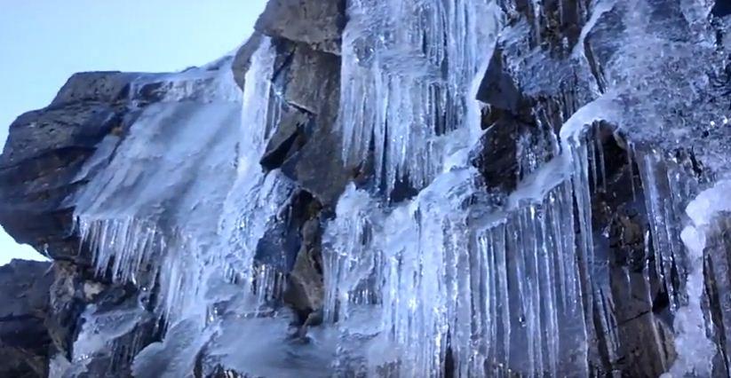 Escalada extrema en cascadas de hielo