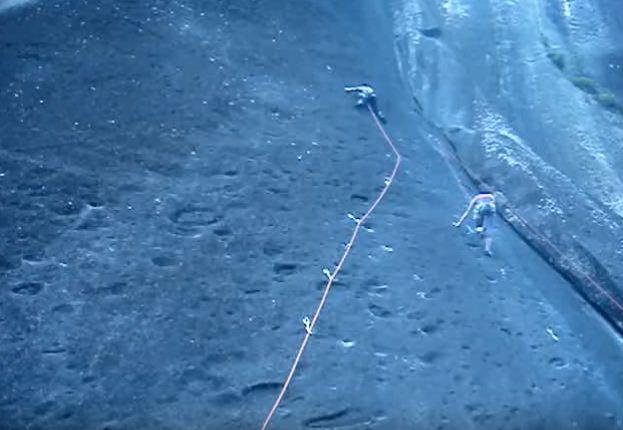 saber caerse en escalada