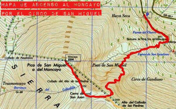 Ruta de ascenso al Moncayo corriendo por el Circo de San Miguel