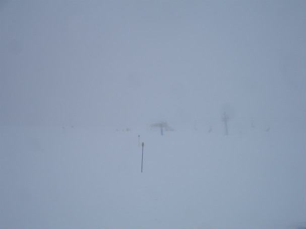 Mal tiempo en la estación de esquí de Panticosa
