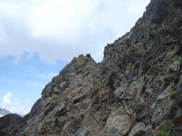 Paso desde la Cresta de los Infiernos hacia Collado de Tebarray e Ibones Azules
