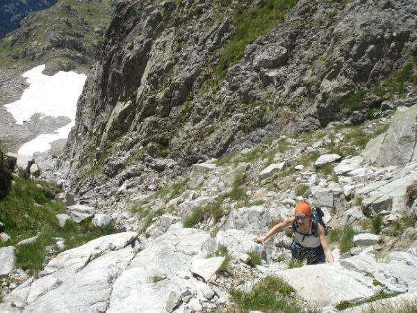 Acceso al Collado de Pondiellos desde la Mallata Alta