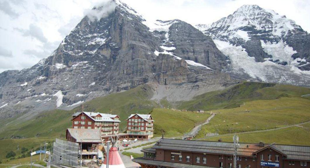 guía de escalada en los Alpes