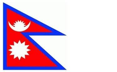 Bandera triangular de Nepal